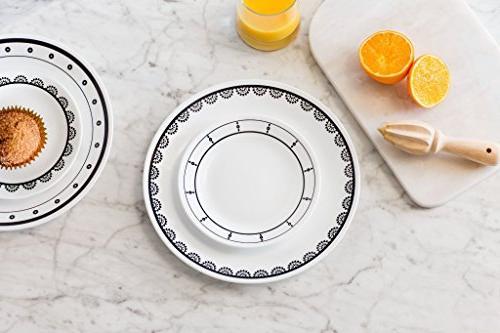 Corelle and White 16-Piece Set, 5.75 x 11.25 x 11.00