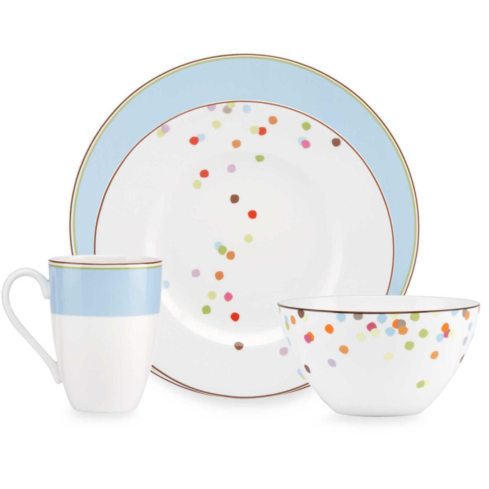 market street dinnerware collection in blue