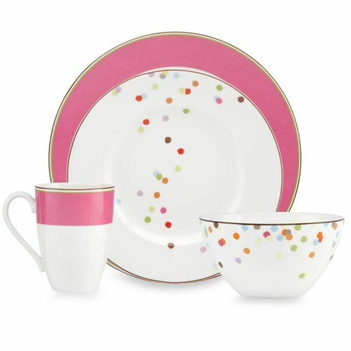 market street dinnerware collection in pink