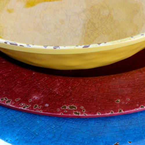 Mauna colors Melamine Outdoor Dinnerware Set 4