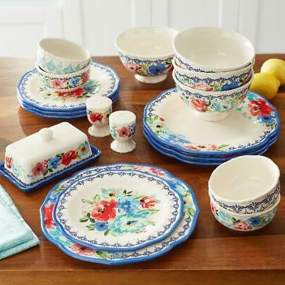 Dinnerware Set The Pioneer Woman Melody 20-Piece Plates Bawl
