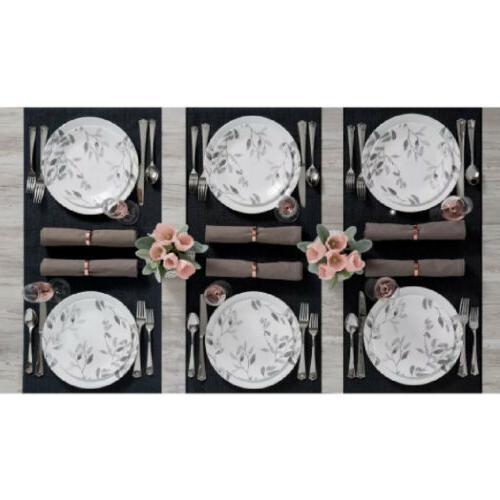 Corelle Misty Leaves Dinnerware Set Resistant Service For