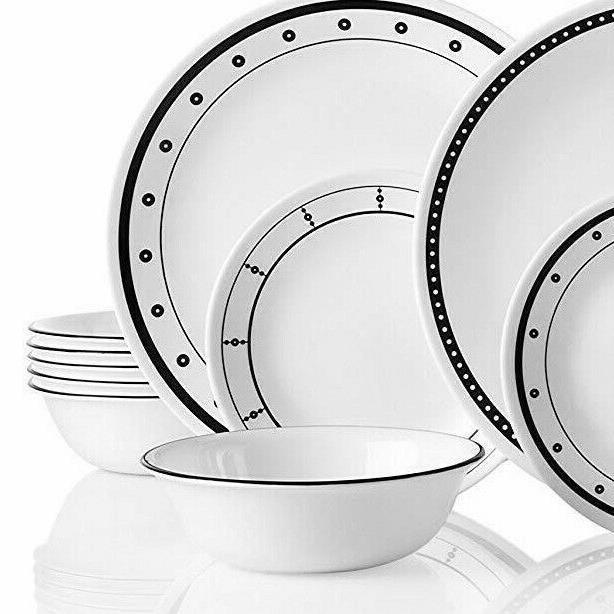 New 18 Piece Dinnerware Classic White