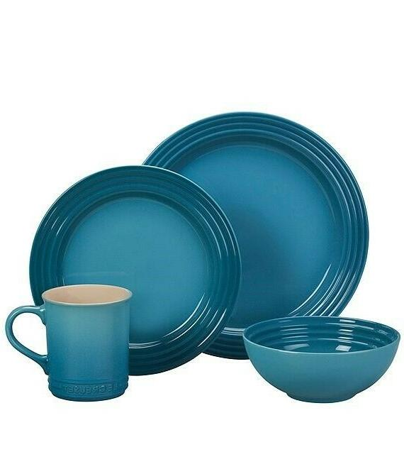 new 16 piece dinnerware set in caribbean