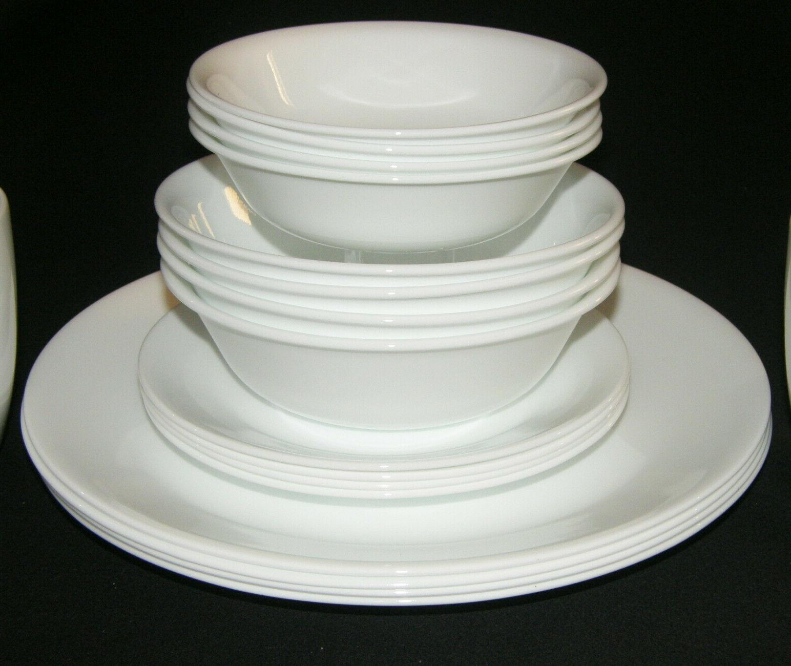 NEW LivingWare Winter White Dinnerware Set