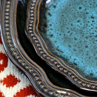 Kitchen Dishes Turquoise Oval Plate Dining Cup Bowls