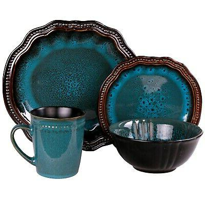 Kitchen Turquoise Oval Dining Bowls Pc