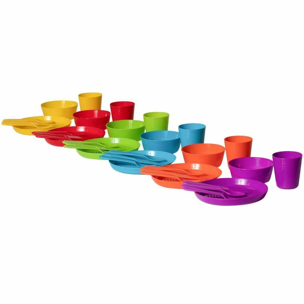 Plastic Dinnerware Piece Dining Entertaining Free