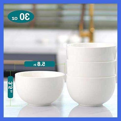 Porcelain Bowls Bowl For Ramen Of 4 WHITE