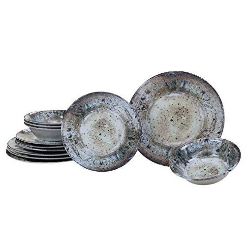 radiance cream melamine dinnerware set