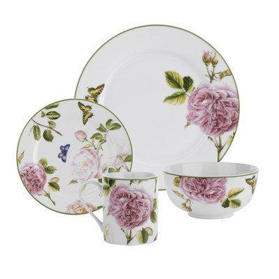 roses dinnerware set