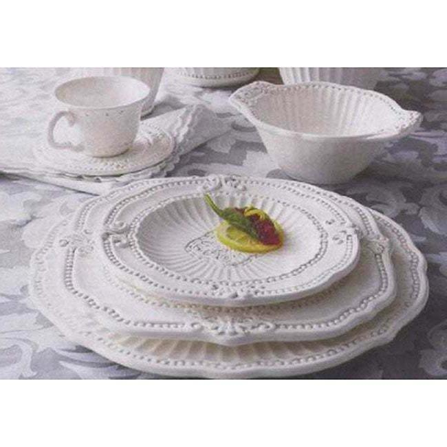 Service for Antique White Dinnerware Set