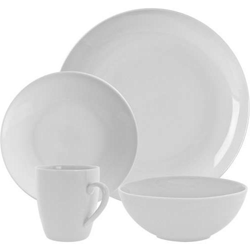 simply white coupe dinnerware set