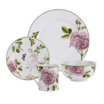 spode roses 16 piece dinnerware set beautiful