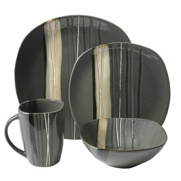 Square Dinnerware Set 4 Stoneware pcs Mug