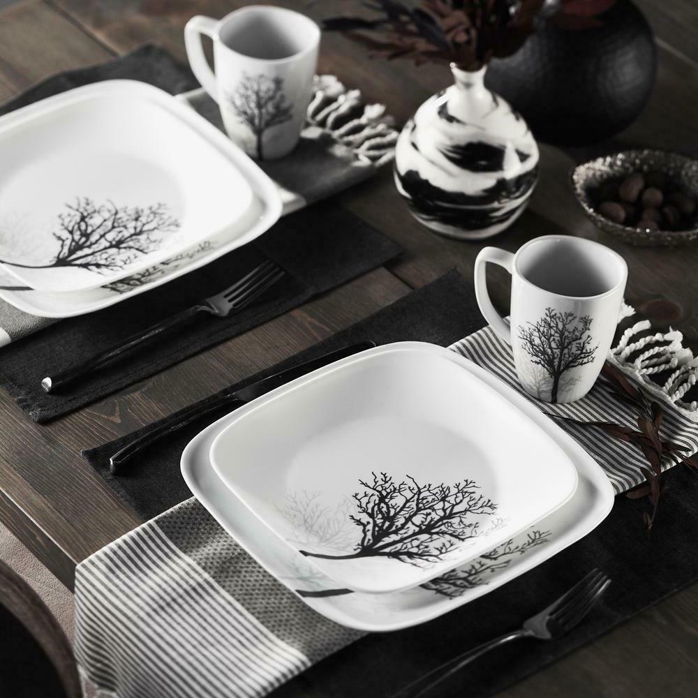 square dinnerware set timber shadows