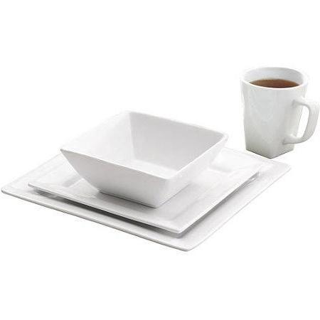 Better and Gardens Square Dinnerware Set