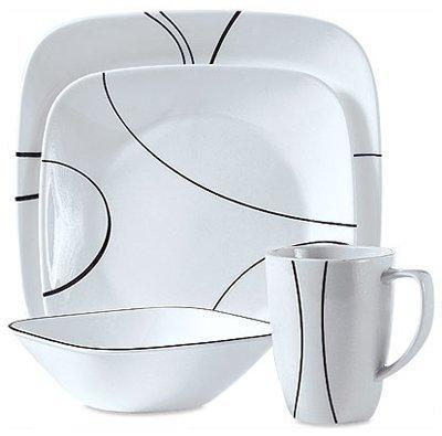 square simple lines dinnerware set