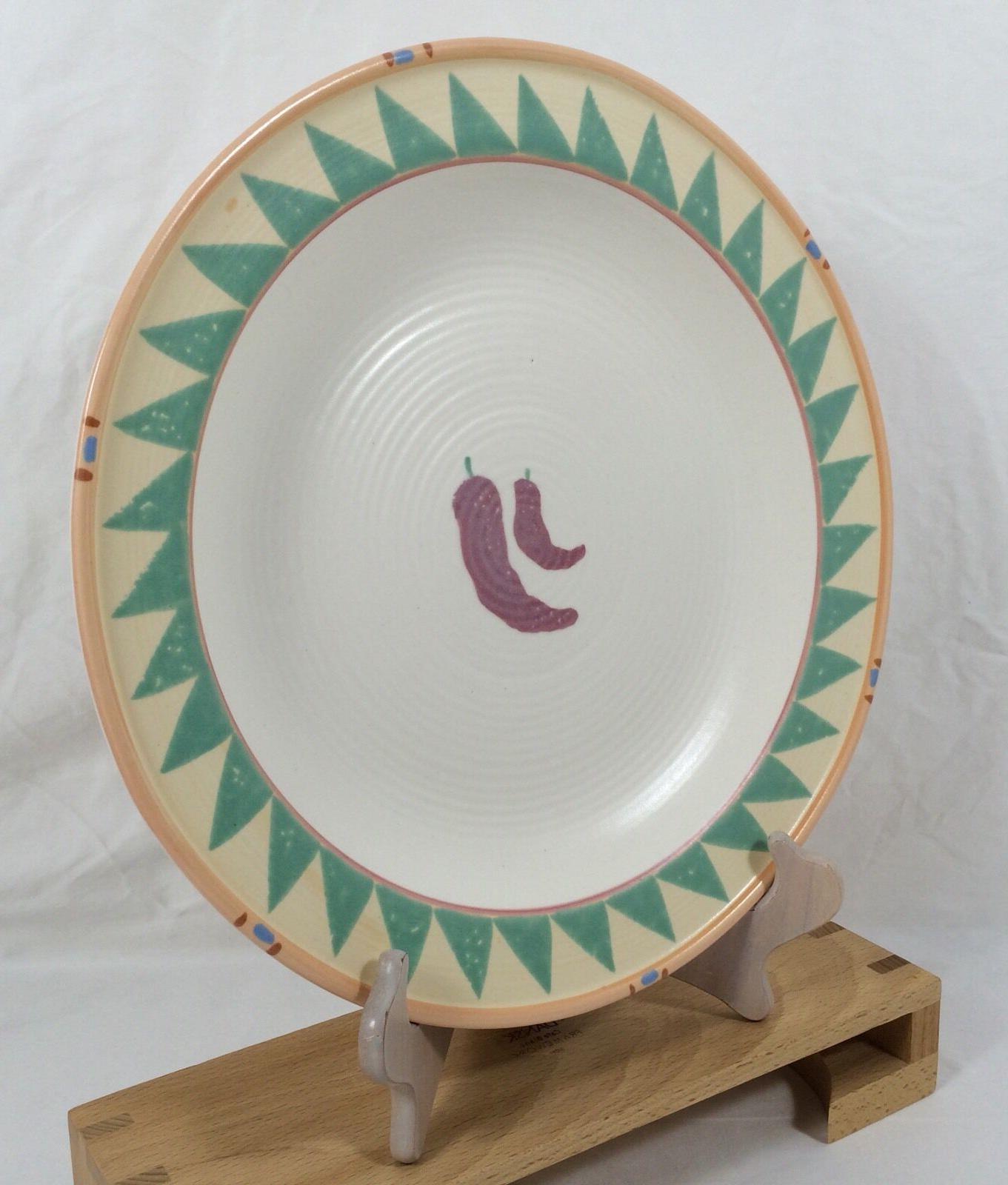 """Treasure Craft Taos 13"""" LARGE Peppers Plate Ceramic"""
