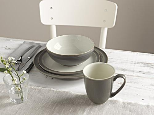 Denby 4-Pc. Truffle/Canvas Dinnerware