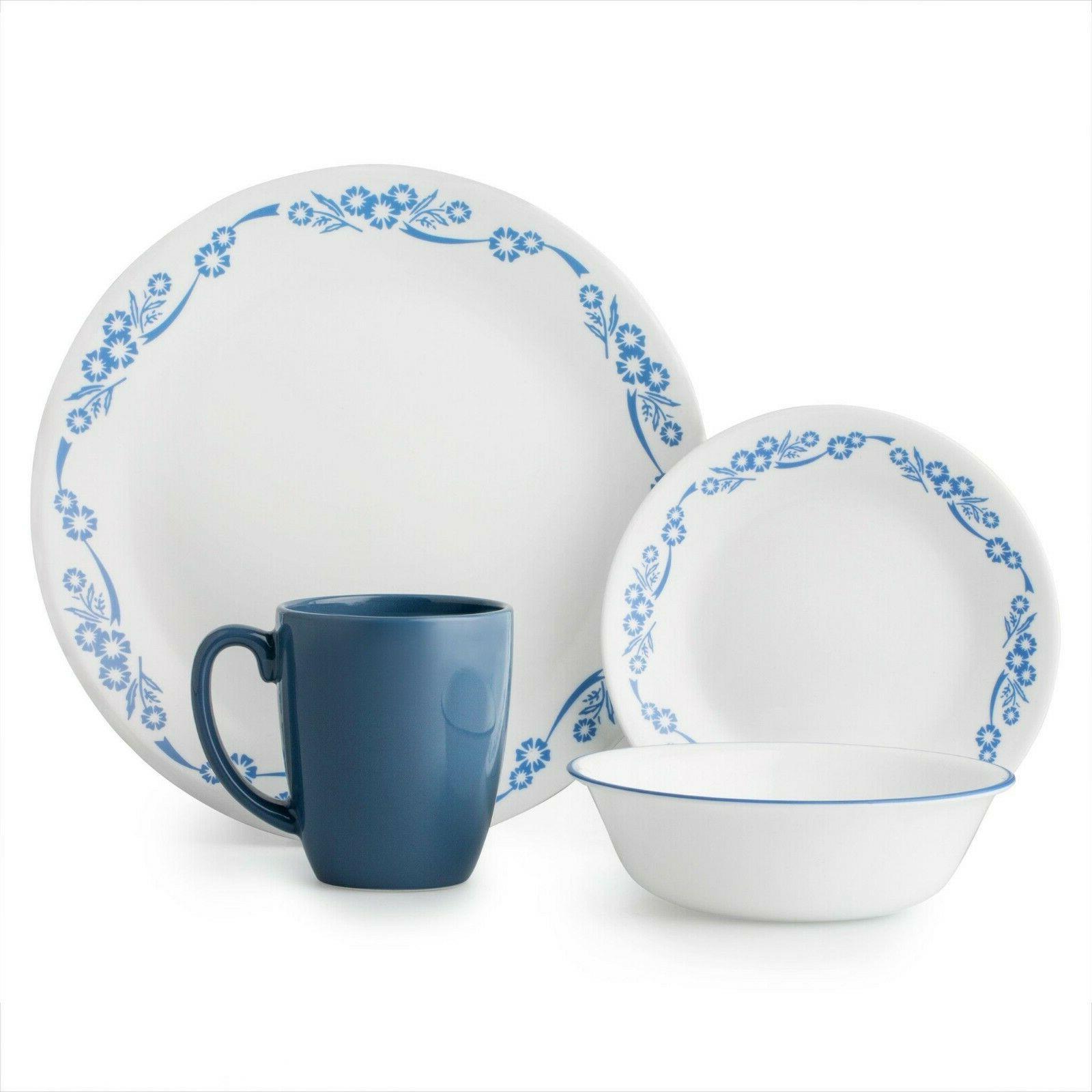 Corelle White Plate Set 16-Piece Dinnerware Set 4