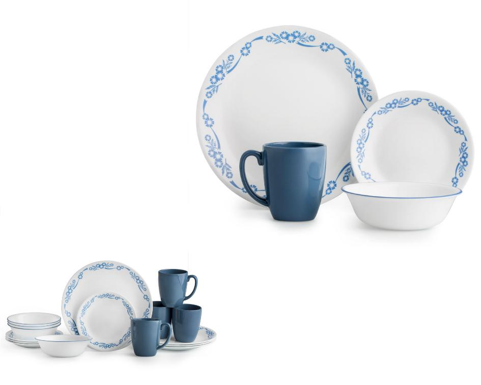 Corelle White Plate 16-Piece Dinnerware Set 4 Lightweight
