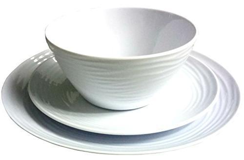 Parhoma Melamine Home Dinnerware Set, Service