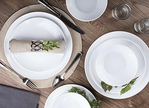 Dinnerware Set, 12-Piece for 4