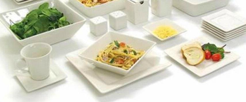 45 White Dinnerware Set Banquet Dishes