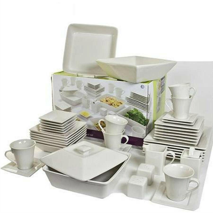 45 Piece Set Plates Dishes
