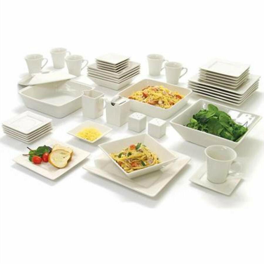 45 Set Square Dishes Kitchen Dinner