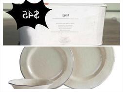 Tag Lanai Melamine Tan 12-piece Dinnerware set *box has crea