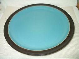 """Denby / Langley DUETS Turquoise & Brown 10 1/2"""" Dinner Plate"""