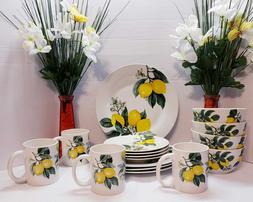 Lemon Printed Ceramic Dinnerware To Choose