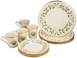 Lenox Holiday 12-Piece Dinnerware Set 12-Piece Dinneware Set