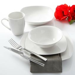 Gibson Home Liberty Hill 30-Piece Dinnerware Set, White
