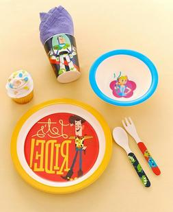 Licensed 5-Pc. Kids' Dinnerware Set Plate Bowl Cup Spoon For