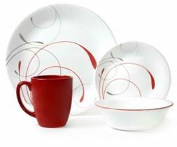 Corelle Livingware 32-Piece Dinnerware Set, Splendor Coupe S