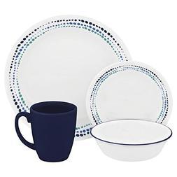 Corelle Livingware 16 Piece Dinnerware Set, Ocean Blues, Ser