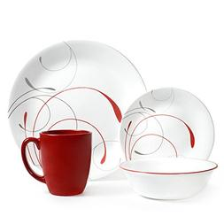 Corelle Livingware Dinnerware 16pc Set Splendor Coupe Dishwa