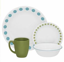 CORELLE LIVINGWARE SOUTH BEACH 16 PIECE DINNERWARE SET BRAND