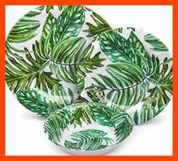 Melamine Dinnerware Set Plates 12 Pcs Outdoor Summer & Bowls