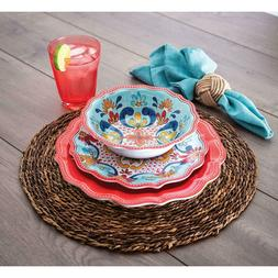 Member's Mark 18-Piece Melamine Dinnerware Set Red Global