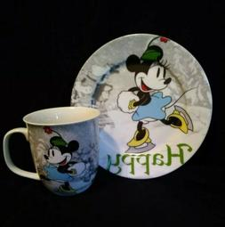 "Disney Mickey's Vtg Holiday Dinnerware ""Minnie Mouse"" Matchi"