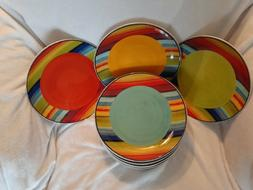 Multi color DINNER plates NANCY GREEN Certified Internationa