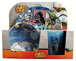 new$26 KIDS STAR WARS 3 PC DINNERWARE SET Plate/Saucer Bowl