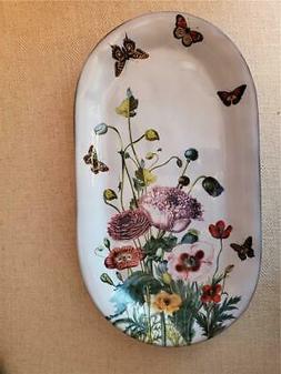 NEW JULISKA Field of Flowers Poppies & Butterflies Hostess S
