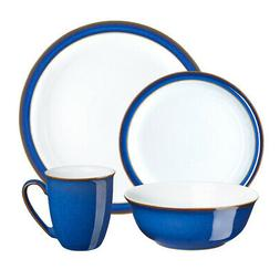 NEW Denby Imperial Blue Tableware Set 16pce