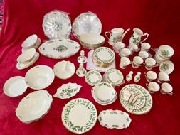 New Largest Lot 75 VINTAGE LENOX HOLIDAY CHRISTMAS FINE CHIN