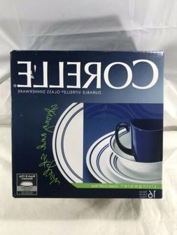 NEW Corelle Livingware 16 Piece Dinnerware Set Classic Cafe